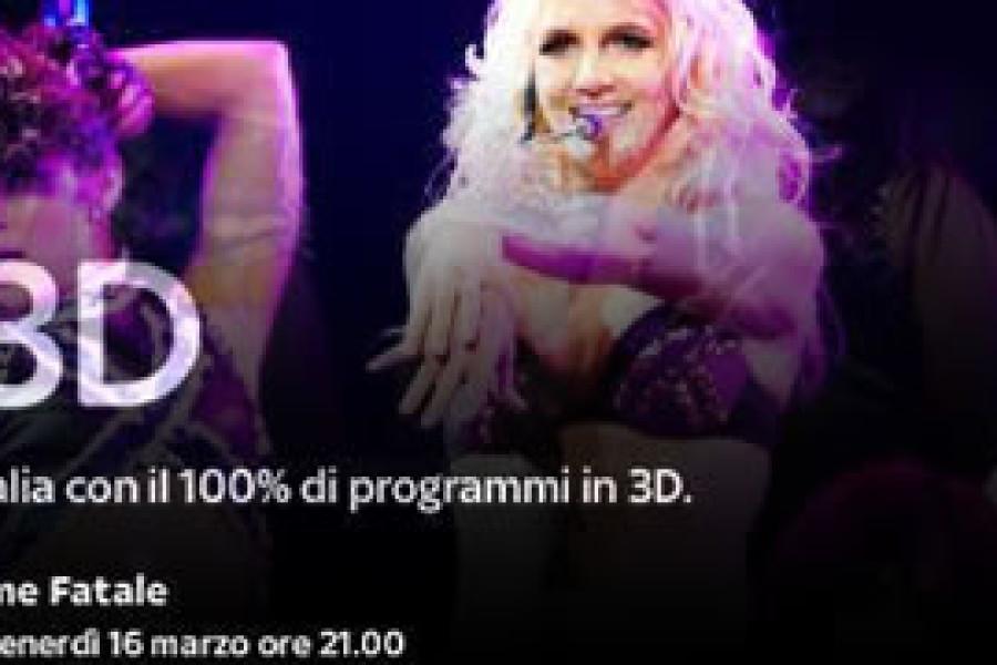 Britney a tutto live in 3D su SKY