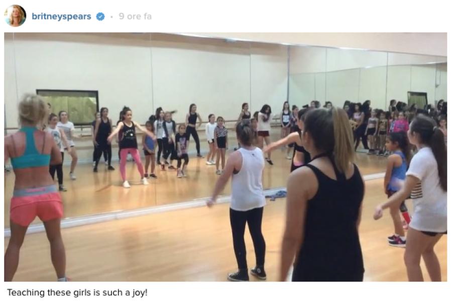Nuova dance class per Britney!